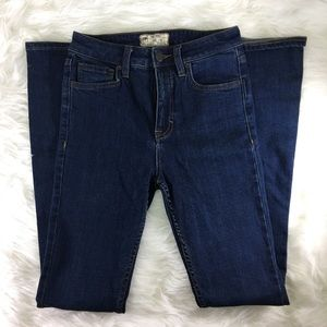 Free People dark wash flare jeans